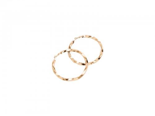 Σκουλαρίκι Κρίκος Χρυσός 70 mm
