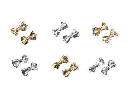 Παιδικό Κλιπ σετ 2 τμχ Μεταλλιζέ Φίογκος Χρυσό & Ασημί