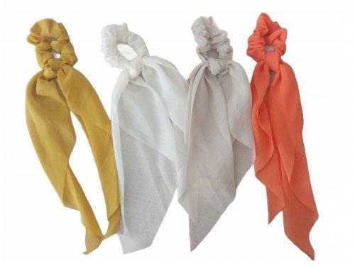 Σούρα μαλλιών μαντήλι μονόχρωμο 30 cm