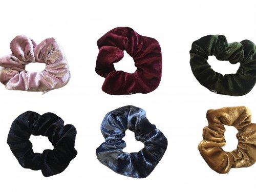 Σούρα μαλλιών βελουτέ χρώματα