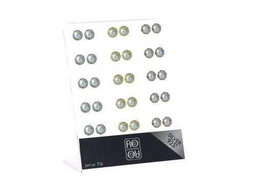 Σκουλαρίκι αυτιού Ασήμι 925 πέρλα ασημί/χρυσό/rosegold Rhodium plated