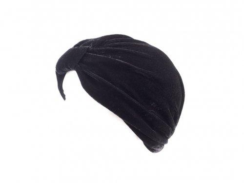 Τουρμπάνι βελούδο μαύρο