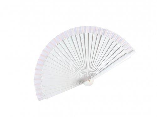 Βεντάλια Λευκή Ξύλινη 19 cm