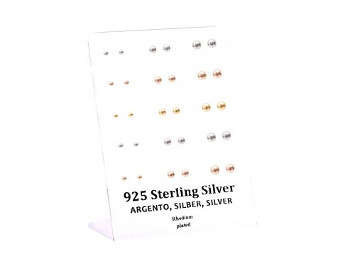 Σκουλαρίκι αυτιού Ασήμι 925 ασημί/χρυσό/rosegold Μπίλια 3/4/5 mm Rhodi