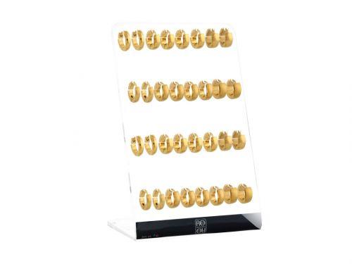 Σκουλαρίκι Κρίκος αυτιού Stainless Steel χρυσός /ματ χρυσός 3/4/5mm