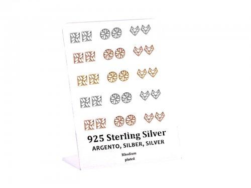 Σκουλαρίκι αυτιού Ασήμι 925 design Rhodium