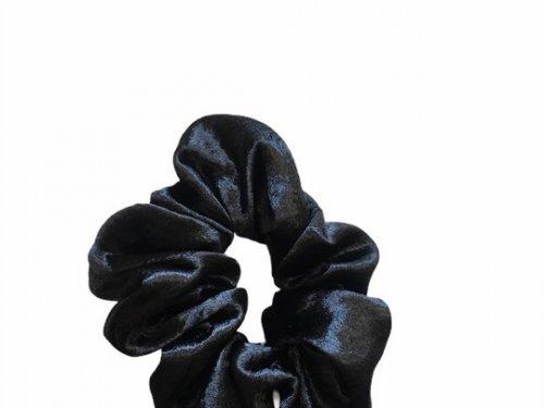 Σούρα μαλλιών σατέν μαύρη